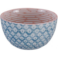 Mixed Bol Nenrin Pink/Medama Aqua 15x8.5cmh 750ml