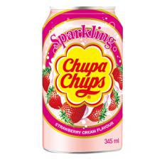 chupa chups boisson soda fraise 345ml