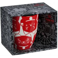 Kawaii Lucky Cat Mug W/Giftbox Red Cat 8.5x10.2cm 380ml