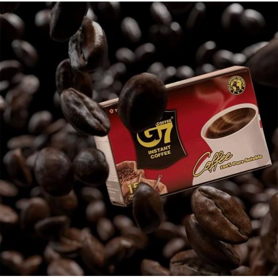 G7 Café Instantané Pur Noir Vietnamien 15 sachets x2g
