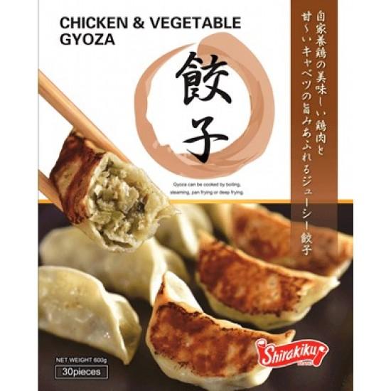 Gyoza poulet légume Shirakiku 30p 600g