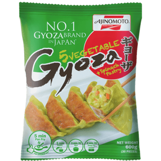 Gyoza aux 5 légumes + aux épinards 600g