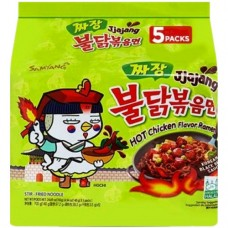 三养火鸡面超辣炸酱味拌面 5连包 140g*5