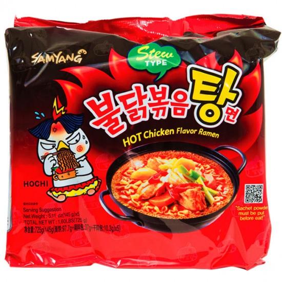 Nouille Ramen Spicy Stew SAMYANG Buldak 5x145g