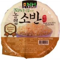 riz brun cuit instantanée en bol 210g