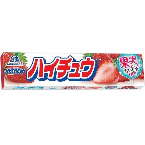 Bonbons tendres à la fraise Hi Chew Morinaga 58g 12 unités