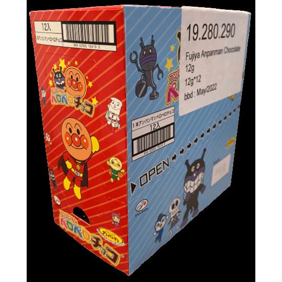 Fujiya Japonais Anpanman Sucette au Chocolat 1 boîte 12 pièces