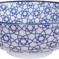 Nippon Blue Soba Bowl 21x7.8cm 1000ml Stripe