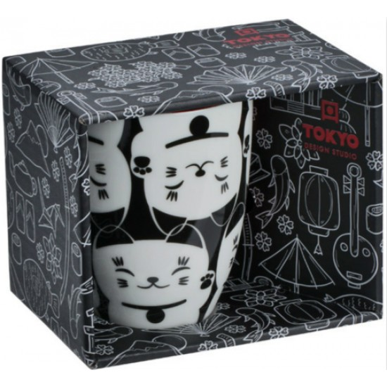 Kawaii Lucky Cat Mug W/Giftbox White Cat 8.5x10.2cm 380ml
