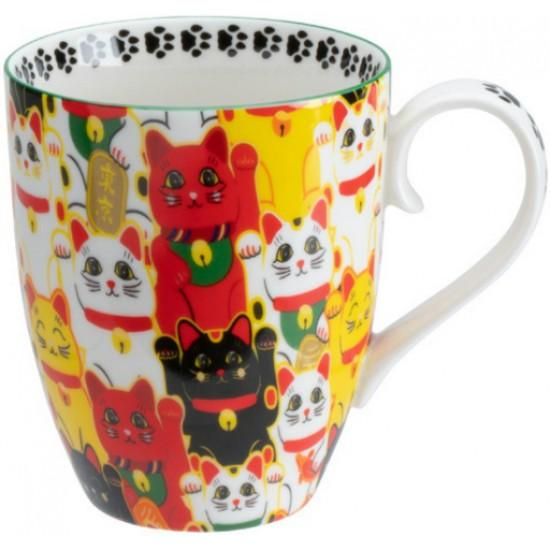 Kawaii Lucky Cat Mug W/Giftbox Multi Cat 8.5x10.2cm