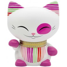 TAG Lucky Cat 11 cm blanc/rose