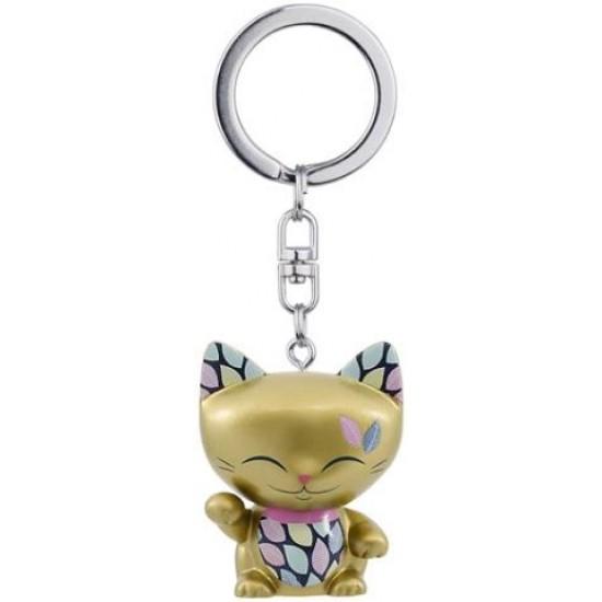Porte clé chat porte bonheur Mani the Lucky Cat doré 4cm