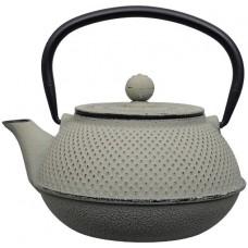 日式铁茶壶 17.5x15x10cm 0.8L 绿/灰