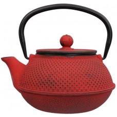 日式铁茶壶 17.5x15x10cm 0.8L 红色